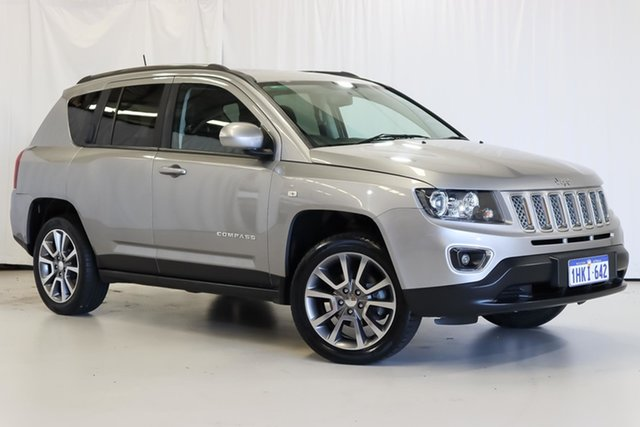 Used Jeep Compass MK MY16 Limited CVT Auto Stick Wangara, 2016 Jeep Compass MK MY16 Limited CVT Auto Stick Silver 6 Speed Constant Variable Wagon