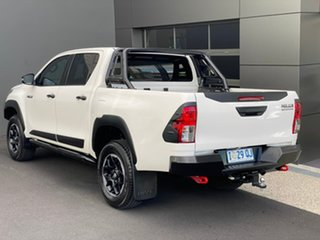 2019 Toyota Hilux GUN126R Rugged X Double Cab White 6 Speed Sports Automatic Utility