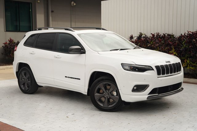 Demo Jeep Cherokee KL MY21 80th Anniversary Cairns, 2021 Jeep Cherokee KL MY21 80th Anniversary Bright White 9 Speed Sports Automatic Wagon
