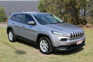 2014 Jeep Cherokee KL MY15 Sport Silver 9 Speed Sports Automatic Wagon.