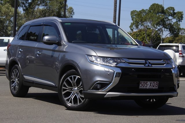 Used Mitsubishi Outlander ZL MY18.5 Exceed AWD North Lakes, 2017 Mitsubishi Outlander ZL MY18.5 Exceed AWD Grey 6 Speed Constant Variable Wagon