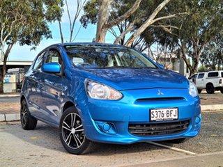 2014 Mitsubishi Mirage LA MY14 ES Blue 1 Speed Constant Variable Hatchback.