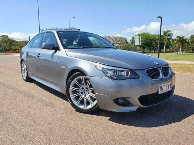 Used BMW 5 Series E60 MY08 530d Steptronic Townsville, 2008 BMW 5 Series E60 MY08 530d Steptronic Space Grey 6 Speed Sports Automatic Sedan