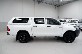 2018 Toyota Hilux GUN125R Workmate Double Cab White 6 Speed Sports Automatic Utility