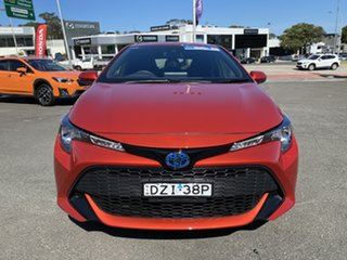 2018 Toyota Corolla ZWE211R Ascent Sport E-CVT Hybrid Orange 10 Speed Constant Variable Hatchback.