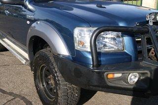 2007 Ford Ranger PJ XLT (4x4) Blue 5 Speed Automatic Super Cab Utility.