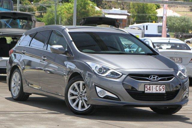 Used Hyundai i40 VF2 Elite Tourer Bundamba, 2013 Hyundai i40 VF2 Elite Tourer Grey 6 Speed Sports Automatic Wagon