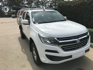2017 Holden Colorado RG MY17 LS Crew Cab 4x2 White 6 speed Automatic Cab Chassis.