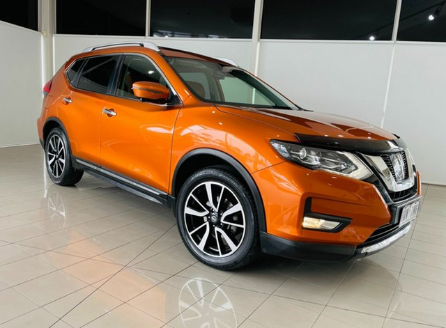 Used Nissan X-Trail T32 Series II Ti X-tronic 4WD Deer Park, 2018 Nissan X-Trail T32 Series II Ti X-tronic 4WD Orange 7 Speed Constant Variable Wagon
