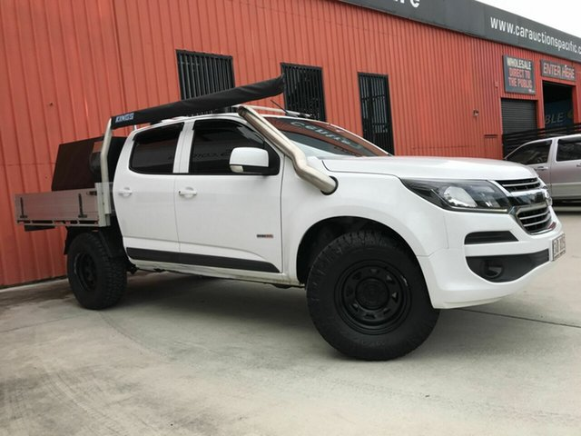 Used Holden Colorado RG MY18 LS Crew Cab Molendinar, 2017 Holden Colorado RG MY18 LS Crew Cab White 6 Speed Sports Automatic Cab Chassis
