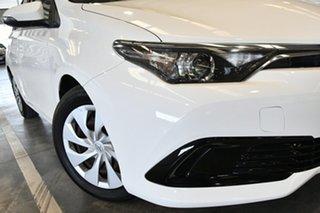 2015 Toyota Corolla ZRE182R Ascent Glacier White 7 Speed CVT Auto Sequential Hatchback.