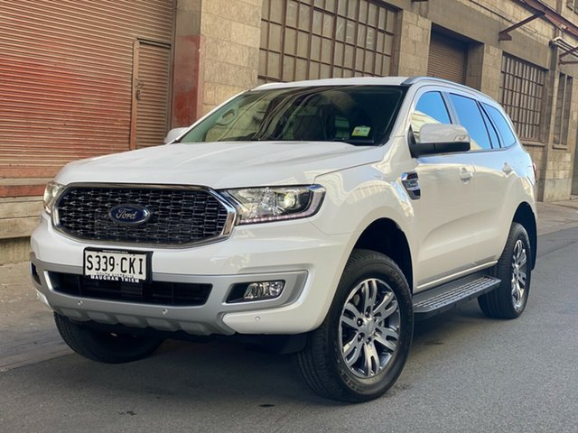 Demo Ford Everest UA II 2021.75MY Trend Port Adelaide, 2021 Ford Everest UA II 2021.75MY Trend Arctic White 10 Speed Sports Automatic SUV