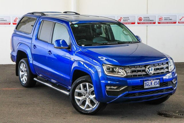 Pre-Owned Volkswagen Amarok 2H MY17 V6 TDI 550 Ultimate Rockingham, 2017 Volkswagen Amarok 2H MY17 V6 TDI 550 Ultimate Blue 8 Speed Automatic Dual Cab Utility