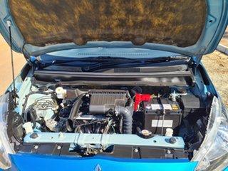 2014 Mitsubishi Mirage LA MY14 ES Blue 1 Speed Constant Variable Hatchback