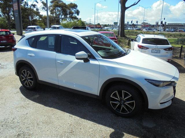 Used Mazda CX-5 KF4W2A Akera SKYACTIV-Drive i-ACTIV AWD Mornington, 2017 Mazda CX-5 KF4W2A Akera SKYACTIV-Drive i-ACTIV AWD White 6 Speed Sports Automatic Wagon
