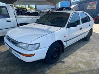 1997 Toyota Corolla AE102R Conquest Seca White 4 Speed Automatic Liftback.