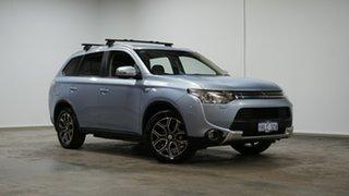2015 Mitsubishi Outlander ZJ MY14.5 PHEV AWD Ice Blue 1 Speed Automatic Wagon Hybrid.