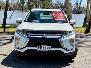 2019 Mitsubishi Eclipse Cross YA MY18 ES (2WD) White Continuous Variable Wagon.