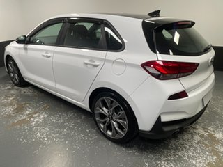 2021 Hyundai i30 PD.V4 MY21 N Line D-CT Premium Ceramic White 7 Speed Sports Automatic Dual Clutch