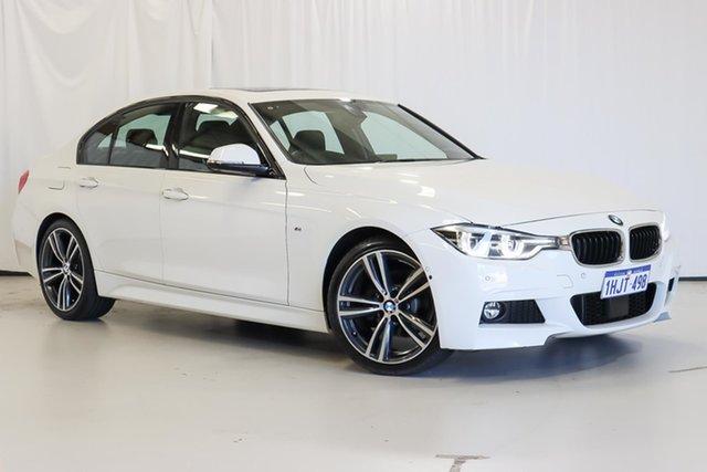 Used BMW 3 Series F30 LCI 320i M Sport Wangara, 2017 BMW 3 Series F30 LCI 320i M Sport White 8 Speed Sports Automatic Sedan