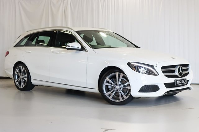 Used Mercedes-Benz C-Class S205 806+056MY C200 Estate 7G-Tronic + Wangara, 2016 Mercedes-Benz C-Class S205 806+056MY C200 Estate 7G-Tronic + White 7 Speed Sports Automatic