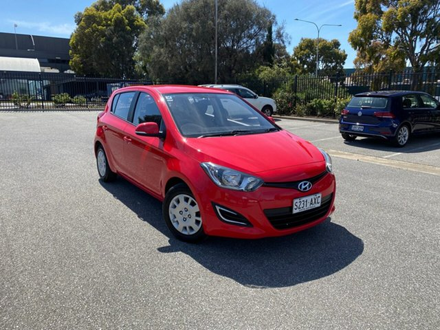Used Hyundai i20 PB MY13 Active Mile End, 2013 Hyundai i20 PB MY13 Active Red 6 Speed Manual Hatchback
