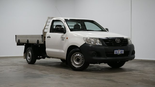Used Toyota Hilux TGN16R MY12 Workmate 4x2 Welshpool, 2012 Toyota Hilux TGN16R MY12 Workmate 4x2 White 4 Speed Automatic Cab Chassis