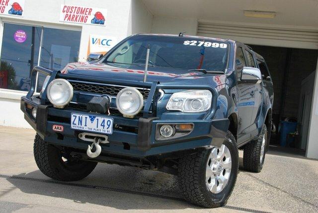 Used Holden Colorado RG LTZ (4x4) Wendouree, 2012 Holden Colorado RG LTZ (4x4) Blue 6 Speed Automatic Crew Cab Pickup