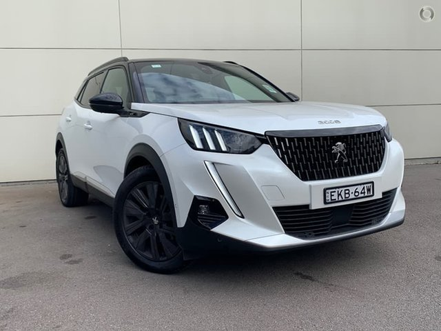 Demo Peugeot 2008 P24 MY21 GT Sport Cardiff, 2020 Peugeot 2008 P24 MY21 GT Sport Pearl White 8 Speed Sports Automatic Wagon