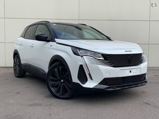 New Peugeot 3008 P84 MY21 GT Sport SUV Cardiff, 2021 Peugeot 3008 P84 MY21 GT Sport SUV Pearl White 8 Speed Sports Automatic Hatchback