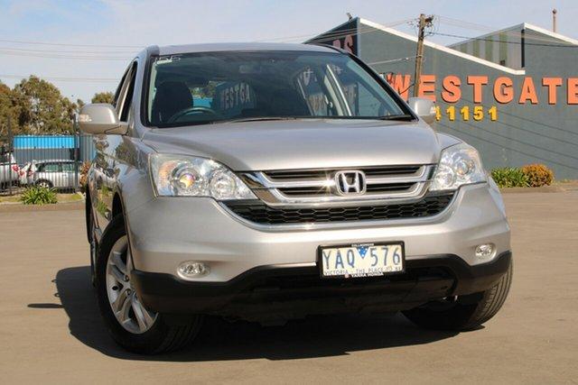 Used Honda CR-V MY10 (4x4) Luxury West Footscray, 2010 Honda CR-V MY10 (4x4) Luxury Silver 5 Speed Automatic Wagon