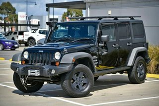 2011 Jeep Wrangler JK MY2012 Unlimited Sport Black 5 Speed Automatic Softtop.