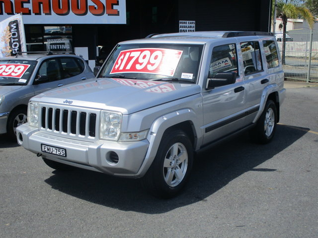 Used Jeep Commander XH Coffs Harbour, 2006 Jeep Commander XH Silver 5 Speed Automatic Wagon
