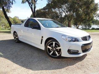 2016 Holden Ute VF II MY16 SV6 Ute Black White 6 Speed Manual Utility.