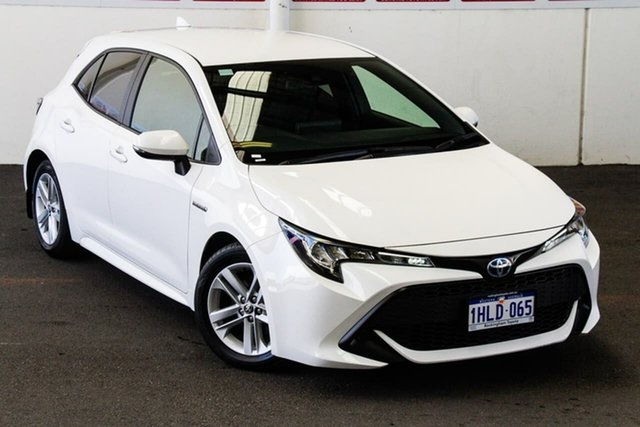 Pre-Owned Toyota Corolla ZWE211R Ascent Sport Hybrid Rockingham, 2018 Toyota Corolla ZWE211R Ascent Sport Hybrid Glacier White Continuous Variable Hatchback