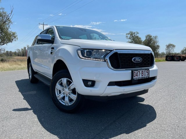 Used Ford Ranger PX MkIII 2021.25MY XLT Emerald, 2021 Ford Ranger PX MkIII 2021.25MY XLT Arctic White 6 Speed Sports Automatic Double Cab Pick Up