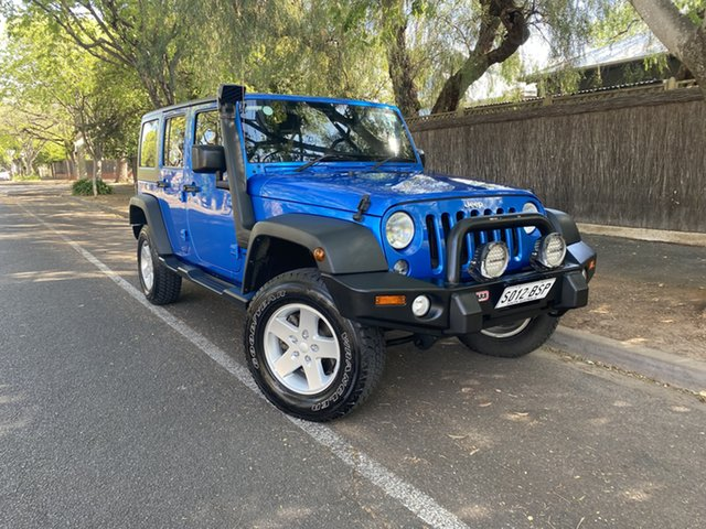 Used Jeep Wrangler JK MY2015 Unlimited Sport Hawthorn, 2015 Jeep Wrangler JK MY2015 Unlimited Sport Blue 5 Speed Automatic Softtop
