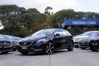 2014 Volvo V40 M Series MY14 D4 Adap Geartronic Luxury Black 6 Speed Sports Automatic Hatchback