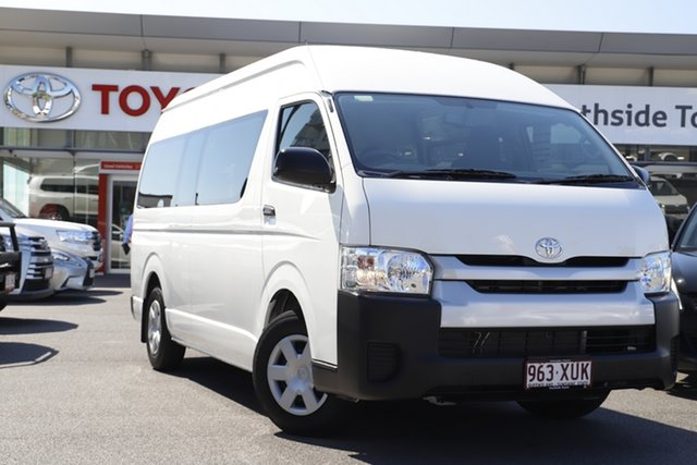 Used Toyota HiAce TRH223R Commuter High Roof Super LWB Upper Mount Gravatt, 2017 Toyota HiAce TRH223R Commuter High Roof Super LWB French Vanilla 6 Speed Automatic Bus