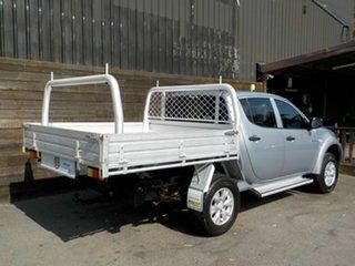 2009 Mitsubishi Triton MN MY10 GL-R Double Cab 4x2 Silver 4 Speed Automatic Utility