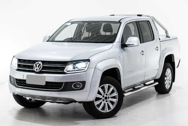 Used Volkswagen Amarok 2H MY15 TDI420 4Motion Perm Highline Berwick, 2015 Volkswagen Amarok 2H MY15 TDI420 4Motion Perm Highline Silver 8 Speed Automatic Utility