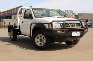 2010 Nissan Navara D22 MY08 DX (4x4) White 5 Speed Manual Cab Chassis.