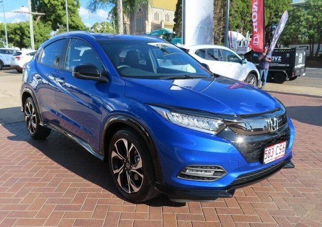 Used Honda HR-V MY21 RS Toowoomba, 2021 Honda HR-V MY21 RS Brilliant Sporty Blue Continuous Variable Wagon
