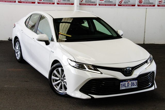 Pre-Owned Toyota Camry AXVH71R Ascent (Hybrid) Myaree, 2018 Toyota Camry AXVH71R Ascent (Hybrid) Glacier White Continuous Variable Sedan