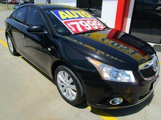 2012 Holden Cruze JH Series II MY12 CDX Black 6 Speed Sports Automatic Sedan.