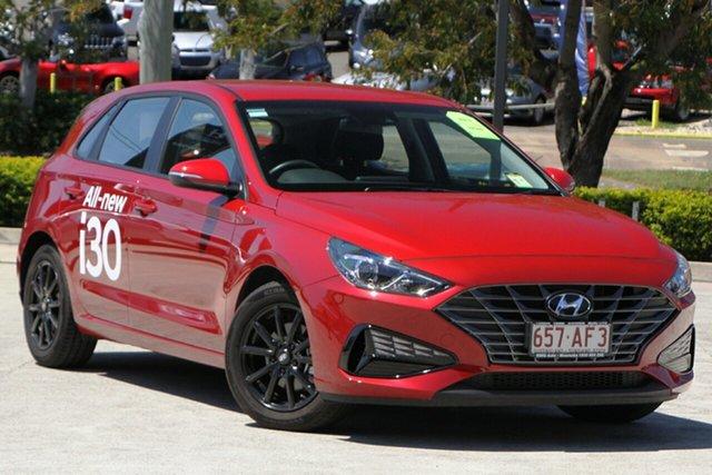 Demo Hyundai i30 PD.V4 MY21 Moorooka, 2020 Hyundai i30 PD.V4 MY21 Firey Red 6 Speed Sports Automatic Hatchback