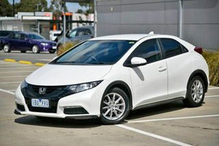 2014 Honda Civic 9th Gen MY14 VTi-S White 5 Speed Sports Automatic Hatchback.