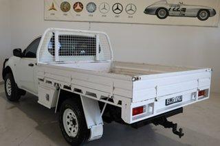 2009 Mitsubishi Triton MN MY10 GLX White 5 Speed Manual Cab Chassis.