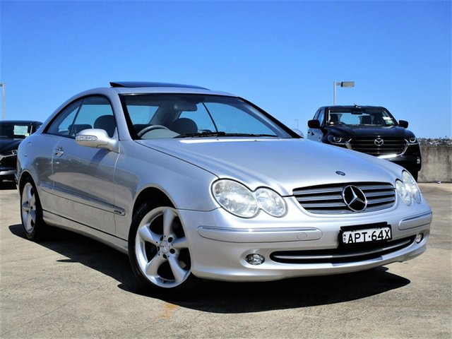 Used Mercedes-Benz CLK-Class C209 CLK240 Elegance Brookvale, 2003 Mercedes-Benz CLK-Class C209 CLK240 Elegance Silver 5 Speed Automatic Coupe