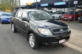 2007 Toyota Hilux TGN16R 06 Upgrade Workmate Black 5 Speed Manual Dual Cab Pick-up.